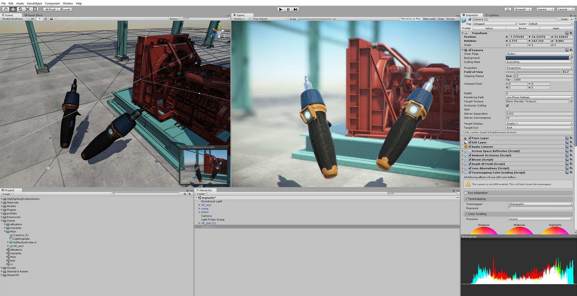 3d custom tool Industry APP controller VR